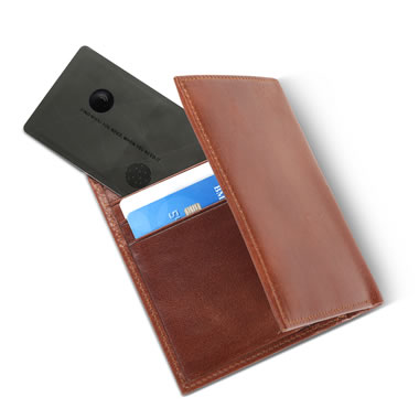 The Lost Wallet Locator credit card size