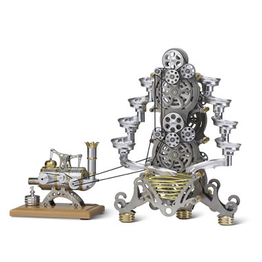 Stirling Engine Marble Tower front view