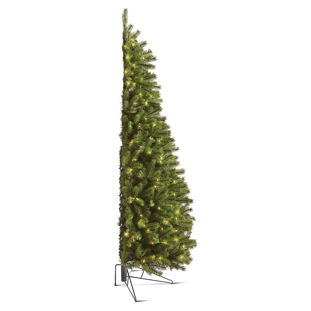 Wall Christmas Trees.The Against The Wall Christmas Tree Hammacher Schlemmer