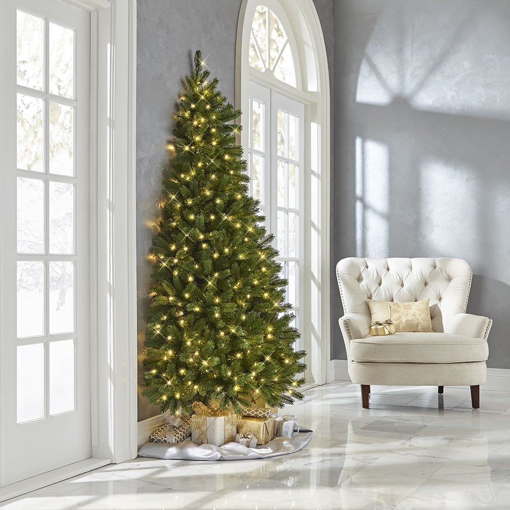 The Against The Wall Christmas Tree Hammacher Schlemmer