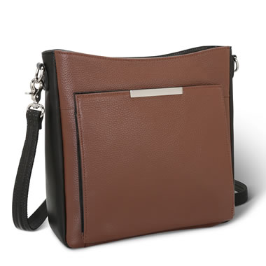 The Two Color Leather Handbag