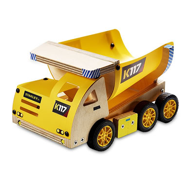 Stanley Dump Truck Wood Building Kit