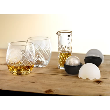 The Whiskey Connoisseur's Chilling Spheres Glass Set