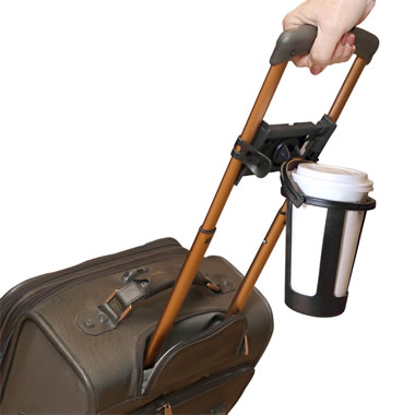 The Hands Free Luggage Drink Holder