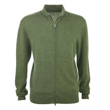 The Washable Cashmere Zip Front Sweatshirt