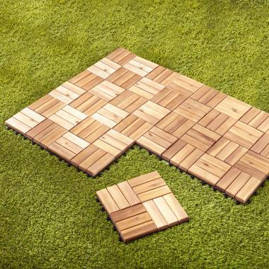 The Interlocking Acacia Deck Tiles