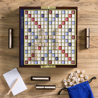 The Tile Securing Travel Scrabble Set