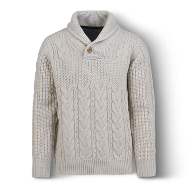 The Fisherman's Pullover Off White