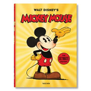 """This is the book that celebrates the story and legacy of Mickey Mouse. Organized into 15 chapters, it examines the inception of the original character created by Walt Disney in 1928 and his evolution into comics, theme parks, and modern day pop culture. The book has over 1,400 images including behind-the-scenes shots, rare animation sketches, movie posters, and concept art. With a foreword by The Walt Disney Company's CEO Bob Iger. Hardcover; 500 pages. 15 1/2"""" L x 11 1/4"""" W x 2"""" D. (11 lbs.)"""