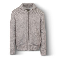 The Sherpa Lined Heathered Wool Jacket