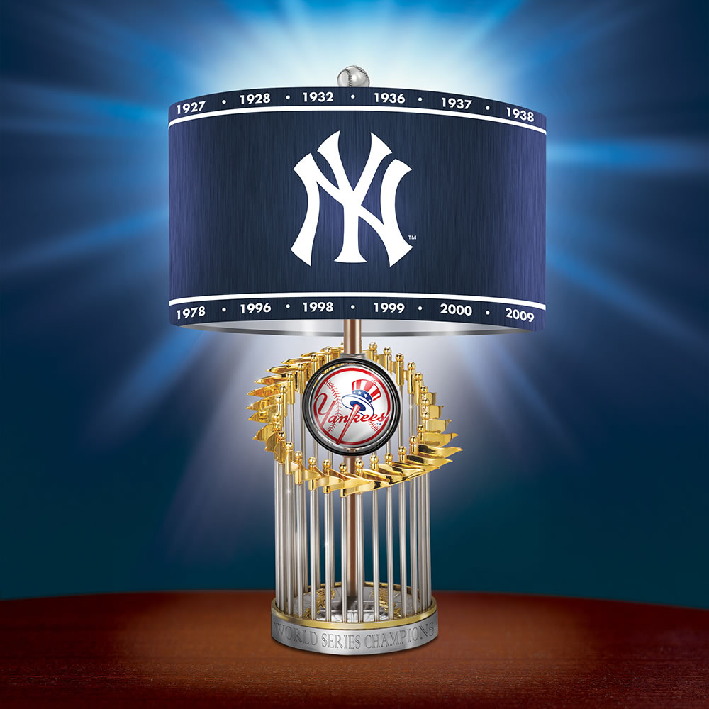 The New York Yankees World Series Commemorative Lamp