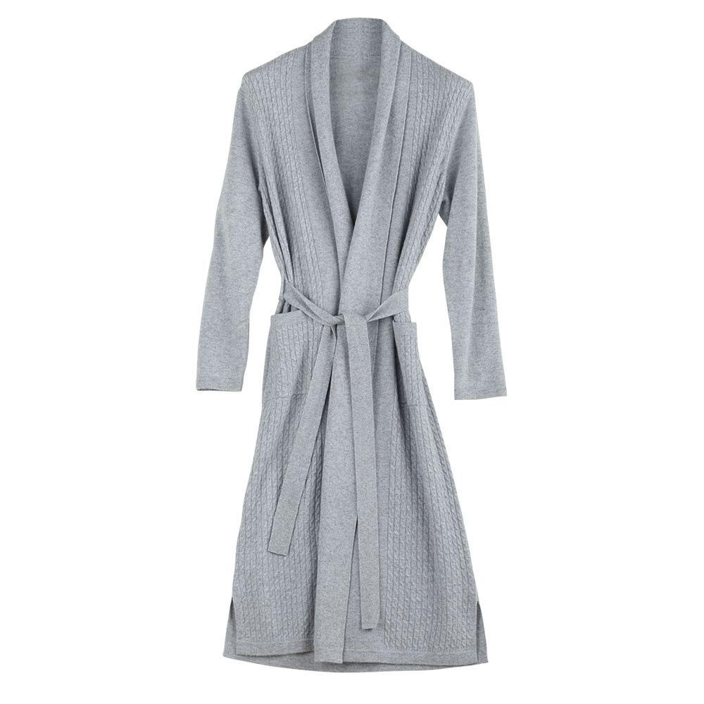 The Full Length Cabled Cashmere Robe - Hammacher Schlemmer b3a19a58d