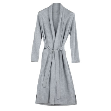The Full Length Cabled Cashmere Robe