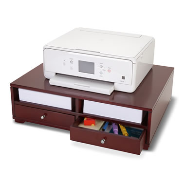 The Home Office Wooden Printer Stand