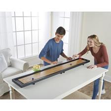 The Portable Tabletop Shuffleboard