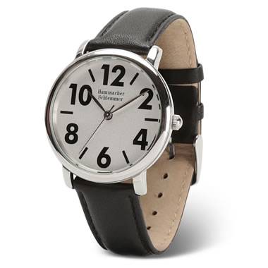 The Gentleman's Easy Read Leather Wristband Watch