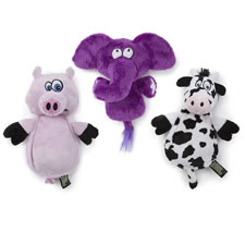 The Silent Squeaking Dog Toys (Dogs up to 25 lbs.)