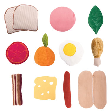 Plush Food Set for The Chair Cover Play Kitchen