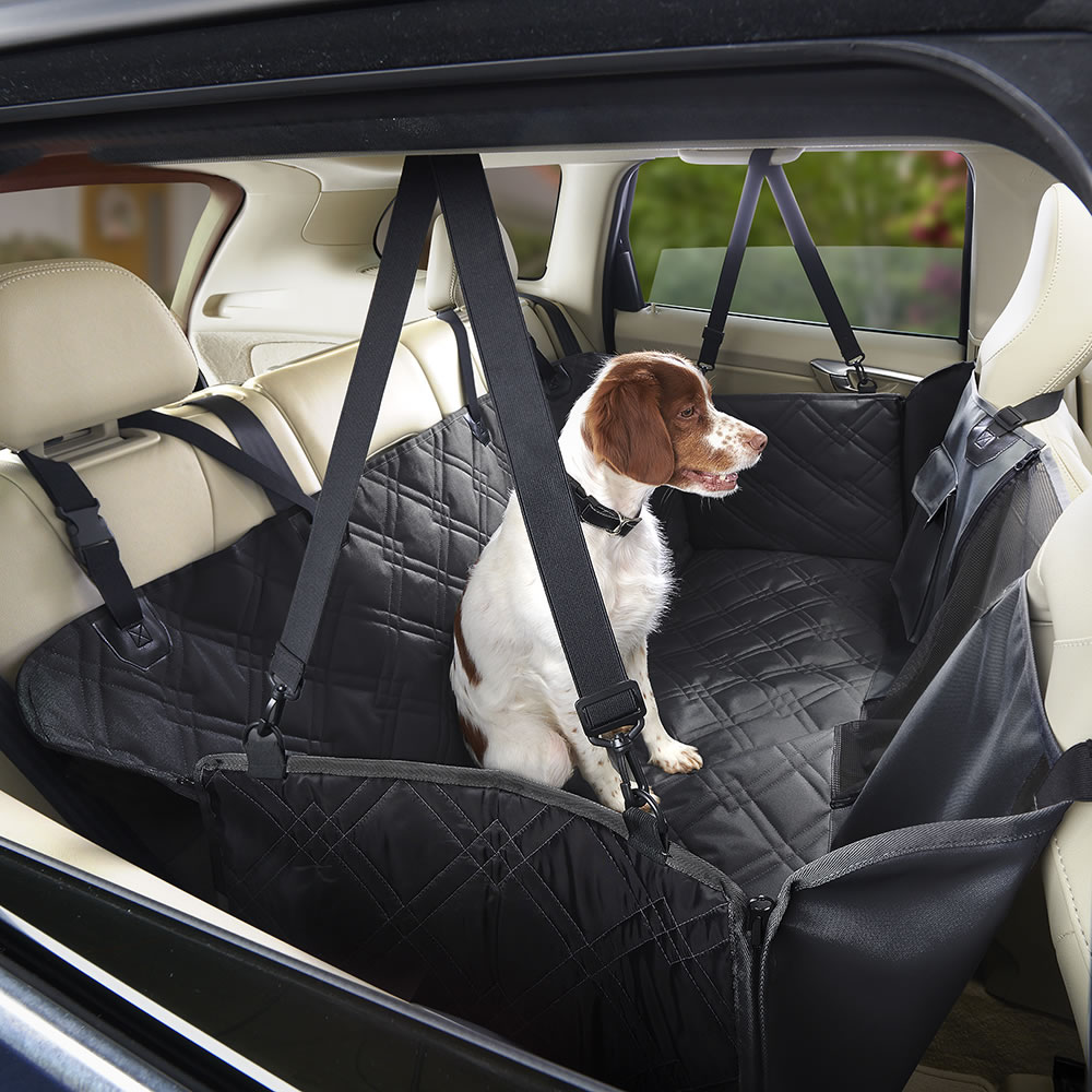 The Full Coverage Dog Car Seat Cover Hammacher Schlemmer