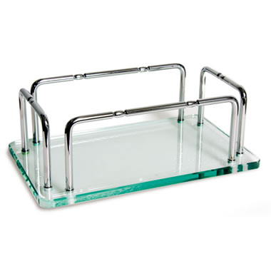 The Glass Vanity Hand Towel Tray