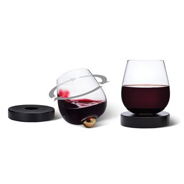 The Rotating Self Aerating Wine Glasses