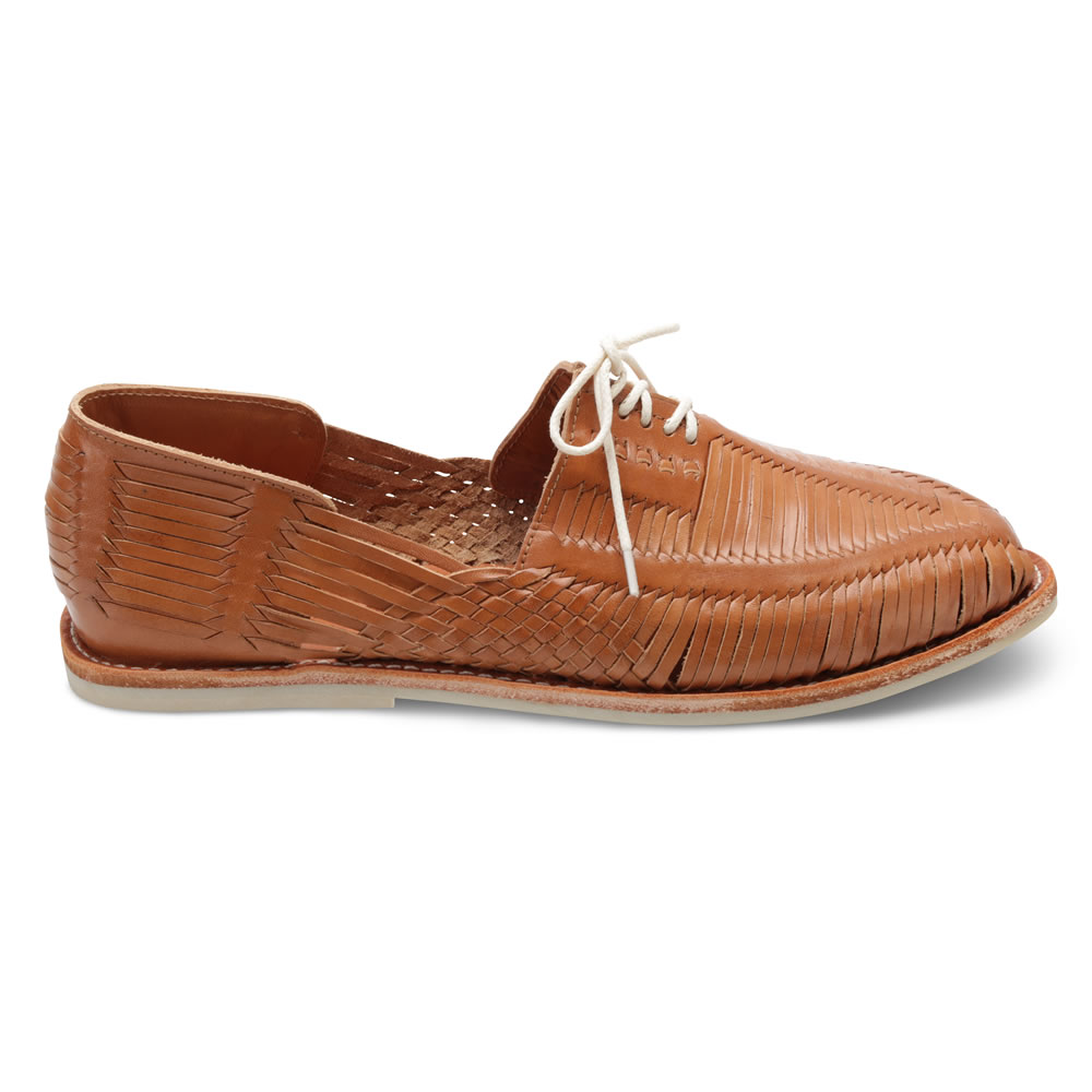 f35ba0073e008 The Authentic Handwoven Leather Huaraches - Hammacher Schlemmer