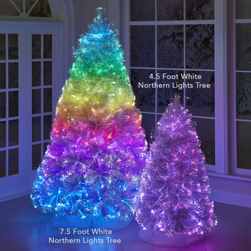 The White Northern Lights Tree