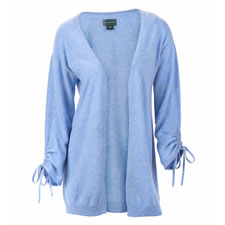 The Lightweight Washable Cashmere Ruched Cardigan