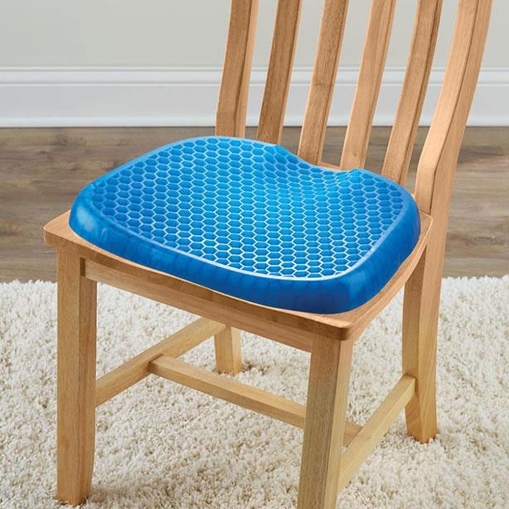Excellent The All Day Comfort Gel Seat Hammacher Schlemmer Lamtechconsult Wood Chair Design Ideas Lamtechconsultcom