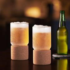 The Ring Preventing Ice Cold Beer Glasses