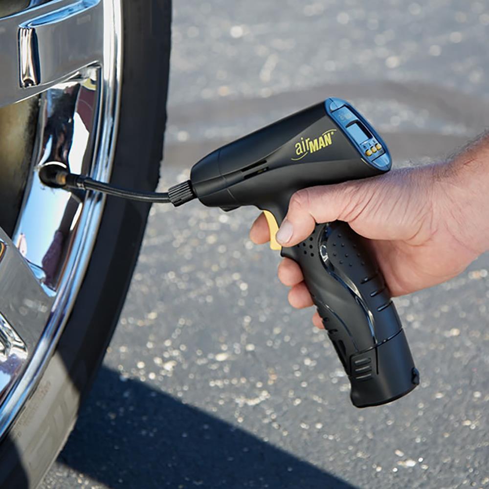 automatic cordless tire inflator hammacher schlemmer