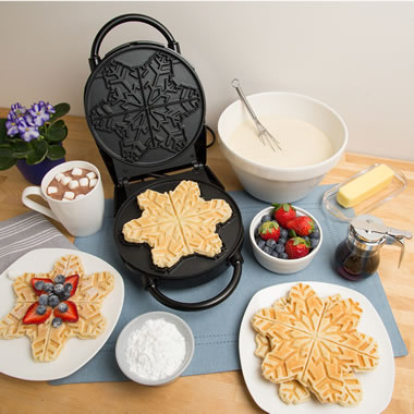 The Christmas Morning Snowflake Waffle Maker