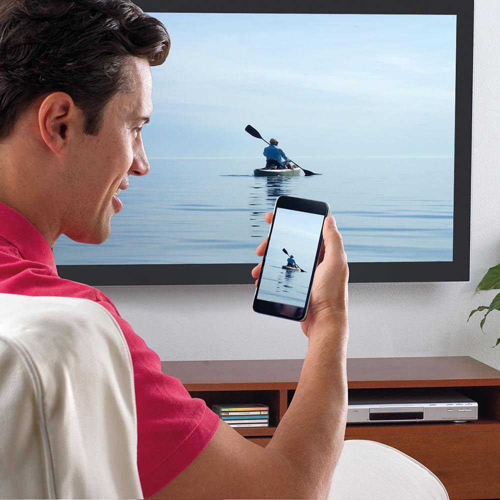The Phone To TV Streamer - Hammacher Schlemmer