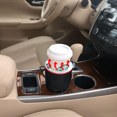 The Commuter's Heating/Cooling Cup Holder