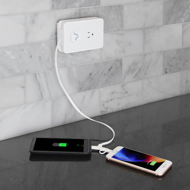 The Smartphone Cord Retracting Charging Outlet