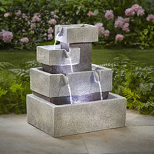 The Solar Illuminated Cascading Fountain