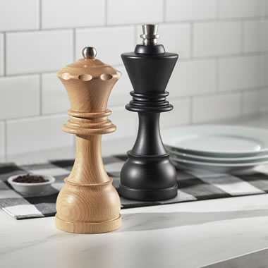 The Chess Master's Salt And Pepper Mills