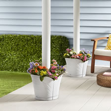 The Wrap Around Deck Post Planter