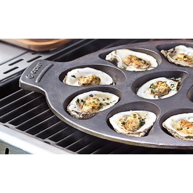 The Cast Iron Oyster Grill Pan
