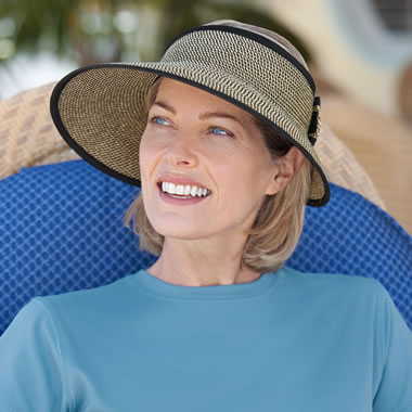 The Lady's Wide Brim Packable Visor