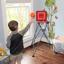 The Toddler's Portable Basketball Hoop