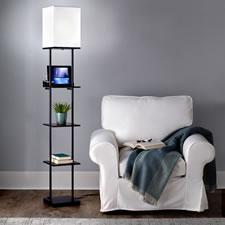 The Phone Charging Floor Lamp Etagere
