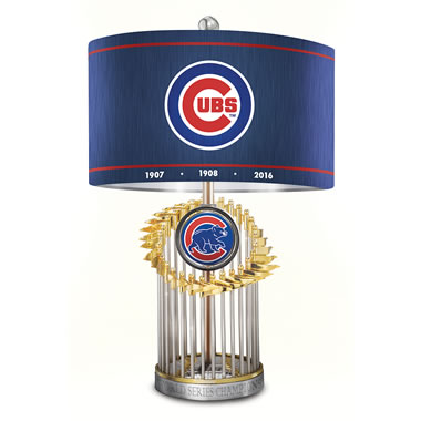 The Chicago Cubs World Series Lamp