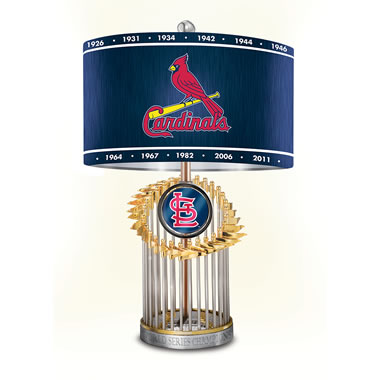 The St. Louis Cardinals World Series Lamp
