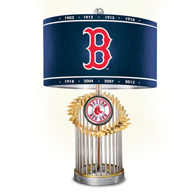The Boston Red Sox World Series Lamp