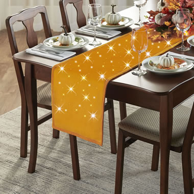 The Cordless Twinkling Halloween Table Runner