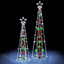 The Reflective Light LED Ornament Tree