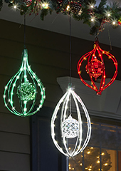 The Outdoor LED Christmas Ornament Finials