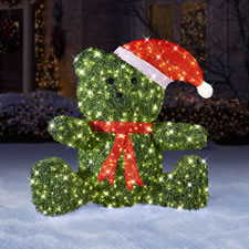 The Twinkling Topiary Christmas Bear