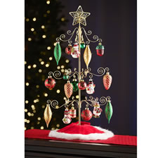 The Tabletop Rotating Ornament Display Tree